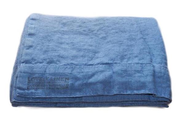 Lovely linen påslakan – Denim blue