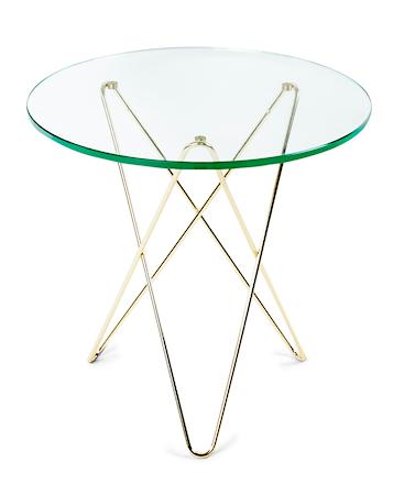 Tall mini O-table - Glas