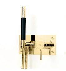 BOX011-364 Dusjbatteri til innebygging Messing