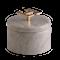 Hemera light ask - Ljus marmor, Greek Key guld, Stor