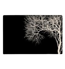 Tablett med träd Svart 44x28,5 cm
