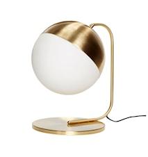 Bordslampa ø30xh47 cm - Mässing/Vit