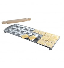 Ravioliform Aluminium 24 st fyrkantiga hål