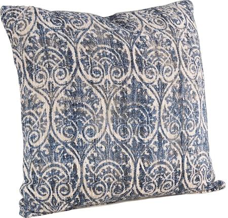 Grange blå kuddfodral + innerkudde