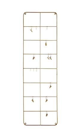 Väggdekoration med krokar 30x100 cm - Mässing
