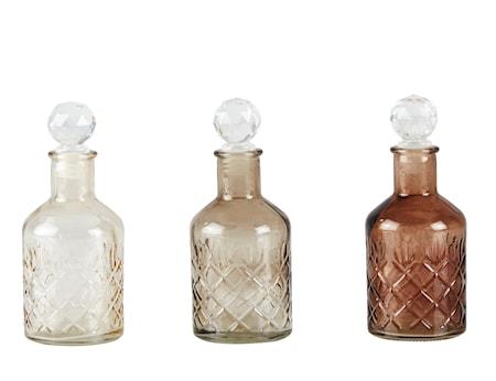 Flaska med kork Brun 3-pack 15,5 cm