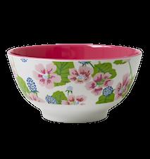 Melaminskål Tvåtonad Blommor/Bär Ø 15 cm