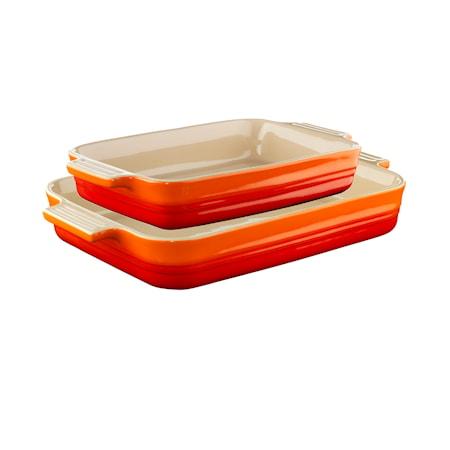Le Creuset Suorakaiteenmuotoinen uunivuoka 2-pack