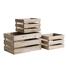 Wooden boxes förvaring