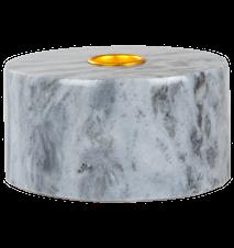 Lysestage Blå marmor 5,5 cm Ø 10,5