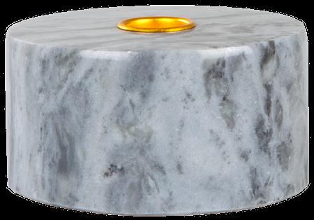 Svensk Marmor Kynttilänjalka Sininen Marmori 5,5 cm Ø 10,5