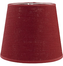 Mia L Lampskärm Lin Röd 17 cm