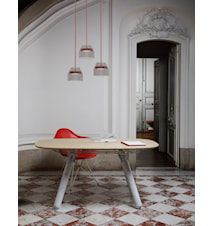 Magnum matbord – Bok/metall/marmor