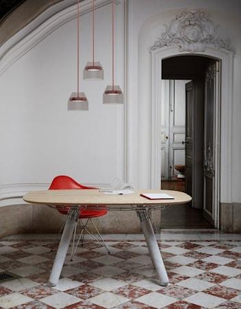 Bild av La Chance Magnum matbord – Bok/metall/marmor