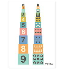 Numbers A3 poster