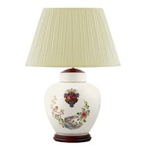 Lampfot, 30 cm, vapensköld och fasaner