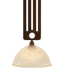 Rad halophane taklampa