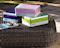 Loto square 90x90 bord - Bark