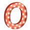 Cirkuslampan Stor - O - Röd
