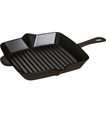 American grill 26 x 26 cm svart