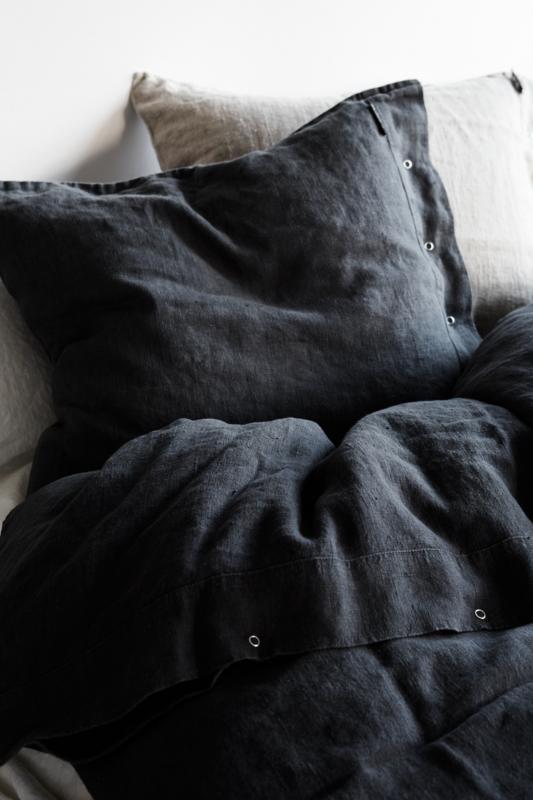 Lovely linen örngott – Dark grey
