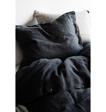 Lovely linen örngott – Dark grey