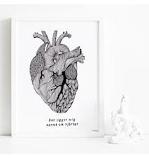 Varmt om hjärtat poster - 30x40