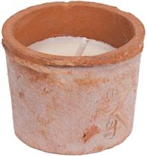 Ljus i mosskruka, terracotta