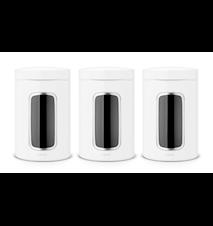 Oppbevaringsboks med vindu 1.4 Ltr x 3 White