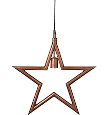 Metallstjärna Råkoppar 45cm