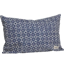 Pute blå/vit mønstret 40x60