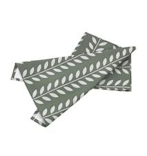 Handduk sjögrön/grå leaves L70