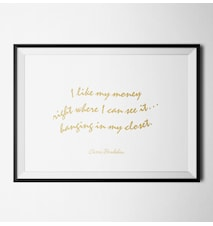 Fashion quote carrie bradshaw poster