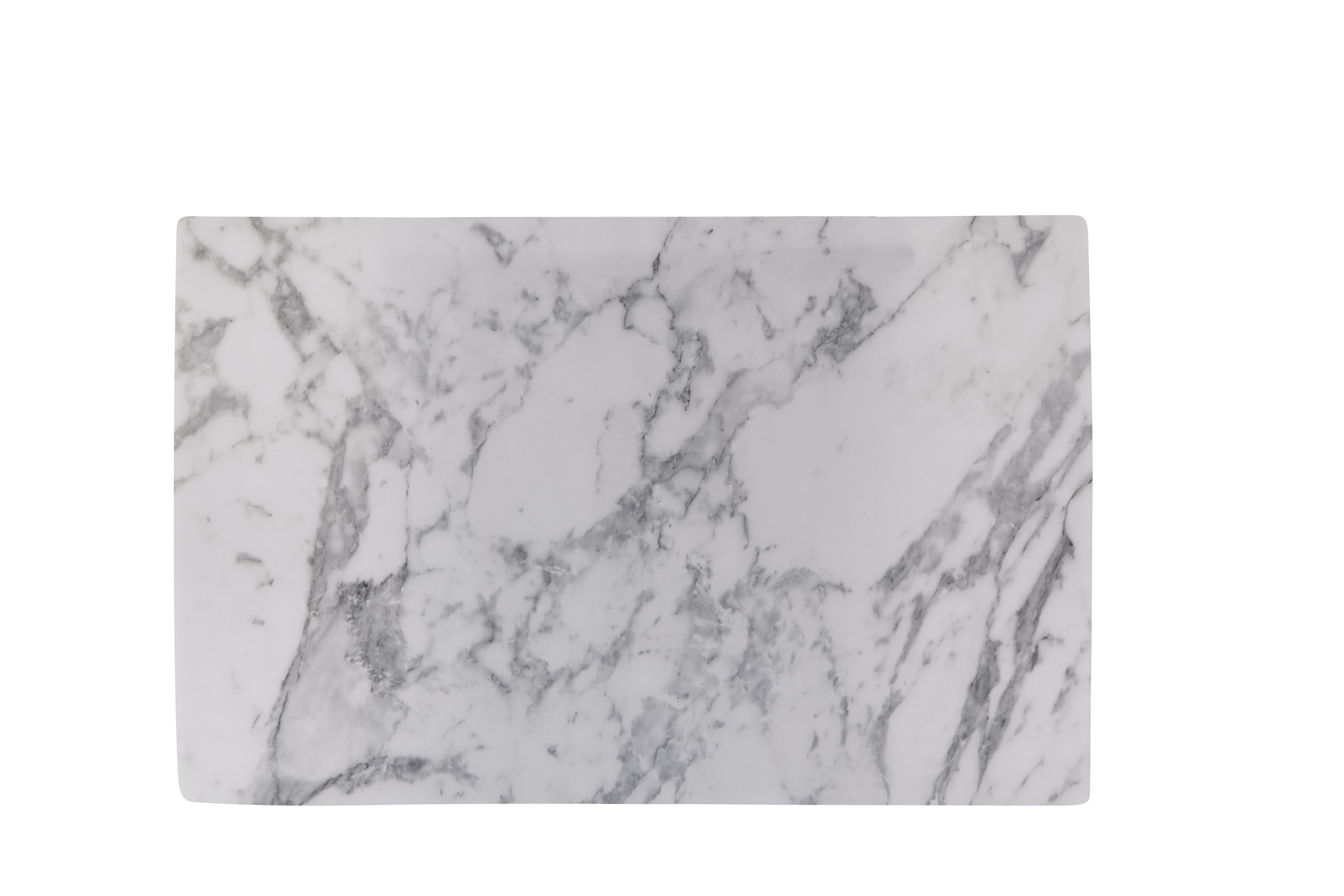 Tablett Marmor Grå 44x28,5 cm