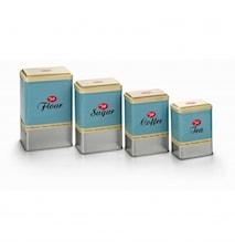 Oppbevaringsboks, 4-pakk, Retro