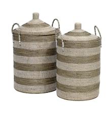 Seagrass tvättkorg 2 st