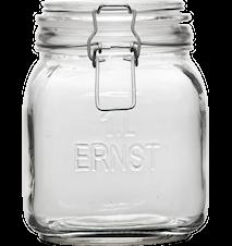 Glasburk med lock, 1 L ERNST