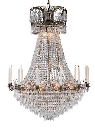 Bild av Markslöjd Läckö Taklampa 15 Ljus Antik