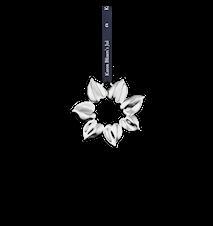 Solstjärna, 8 cm, försilvrad