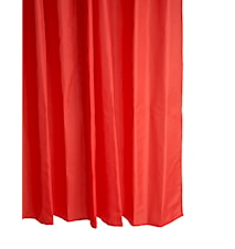 Duschdraperi Polyester Röd H 200,0cm - B 180,0cm - Sleeve