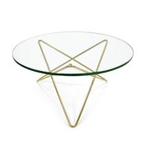 O-table glass sofabord