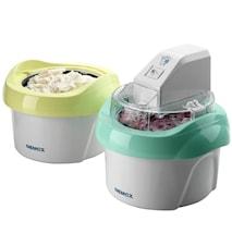 Duo Mio Plus glassmaskin vit/grön och vit/gul 1+1 liter
