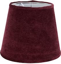 Mia L Lampskärm Sammet Vinröd 24 cm