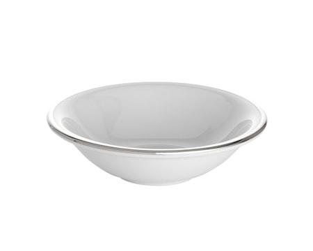 Bistro müsliskål vit/silver 40 cl