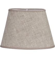 Oval Lampskärm Lin Ljusbeige 20 cm