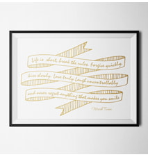 Fashion quote mark twain poster
