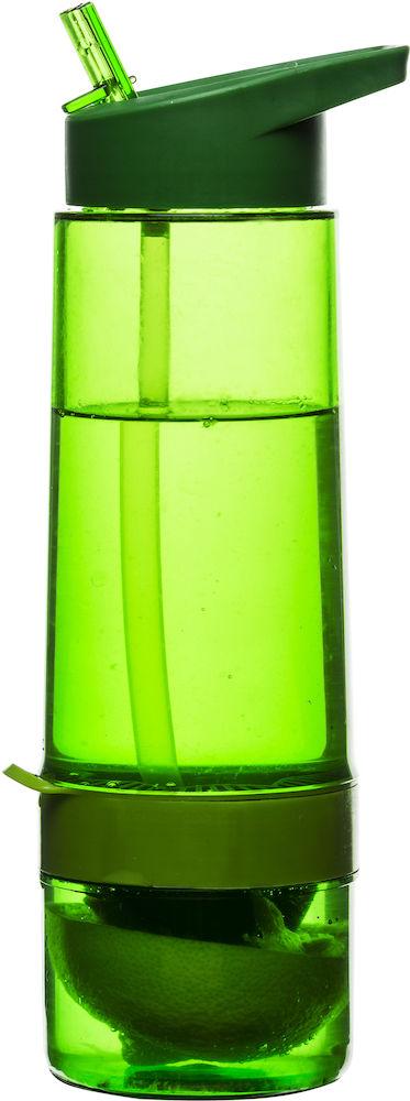 Fresh flaska med citruspress, grön