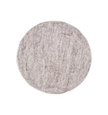 Felt Round sittdyna 35 cm - Ljusgrå
