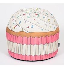 Cupcake Pink bean bag