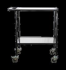 Rullbord med glasskivor Matt Svart 73x45x90 cm